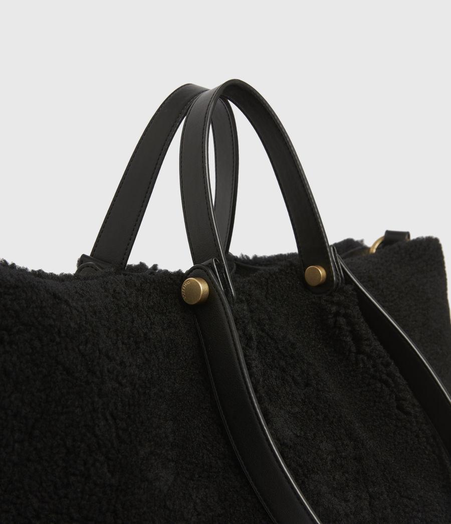 Womens Allington Shearling Tote Bag (black) - Image 5