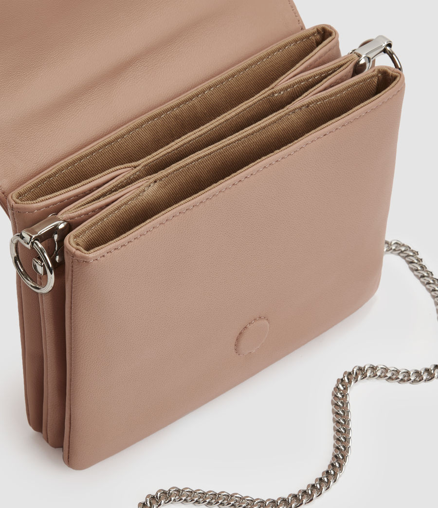 Womens Brune Leather Shoulder Bag (nude_pink) - Image 3