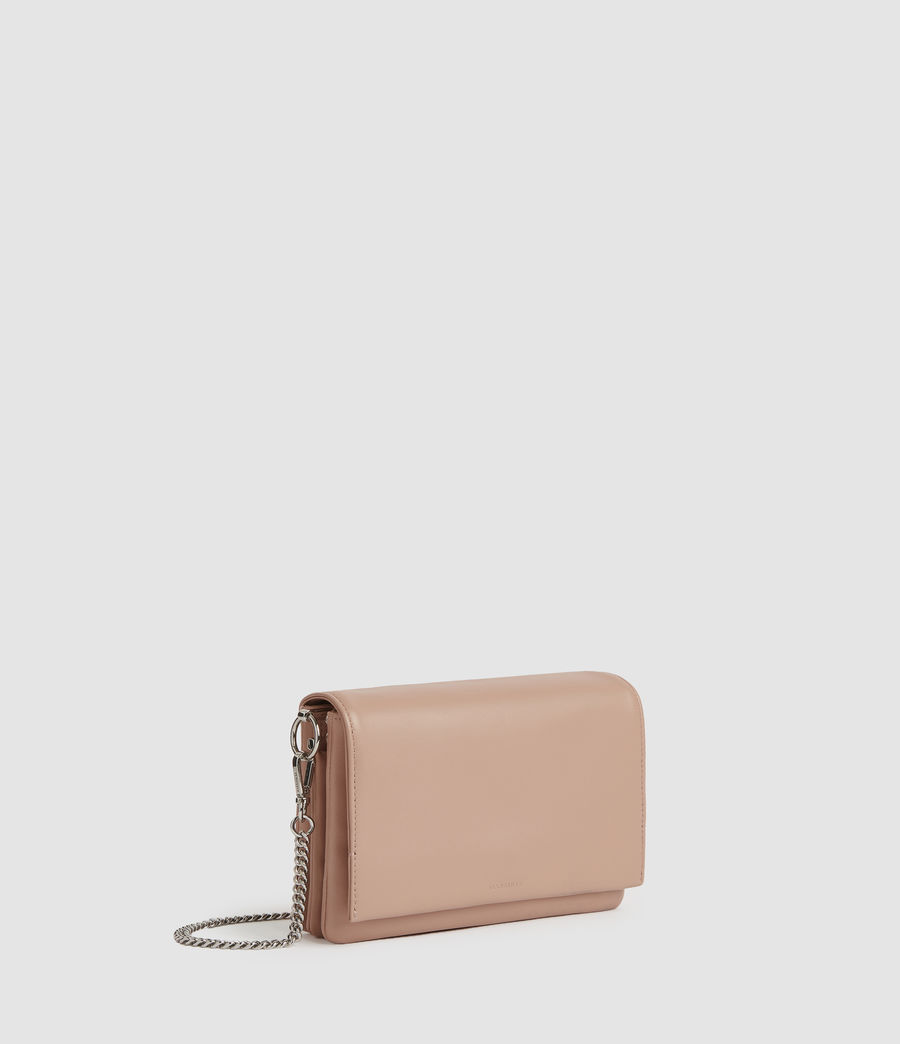 Womens Brune Leather Shoulder Bag (nude_pink) - Image 4