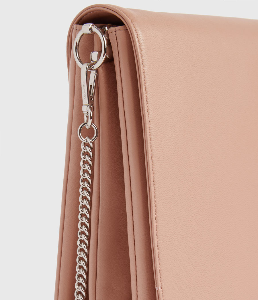 Womens Brune Leather Shoulder Bag (nude_pink) - Image 5