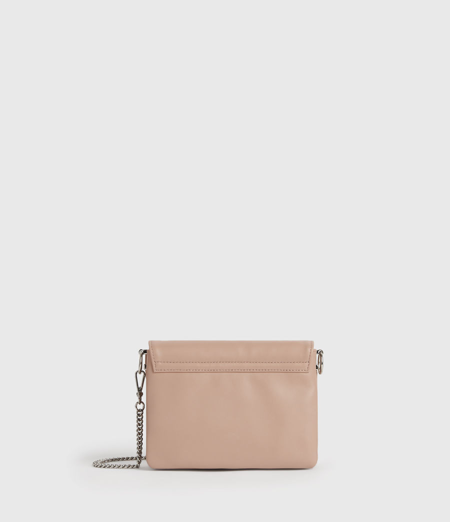 Womens Brune Leather Shoulder Bag (nude_pink) - Image 7