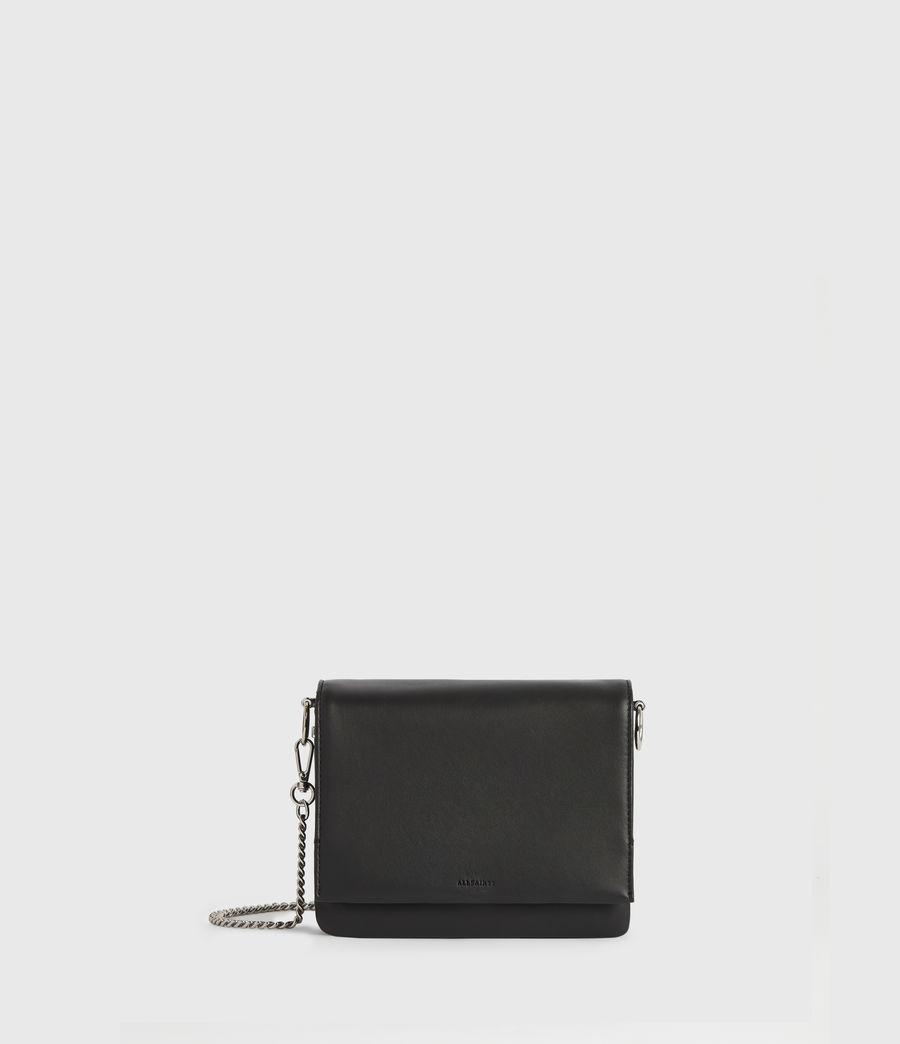Womens Brune Leather Shoulder Bag (black) - Image 1