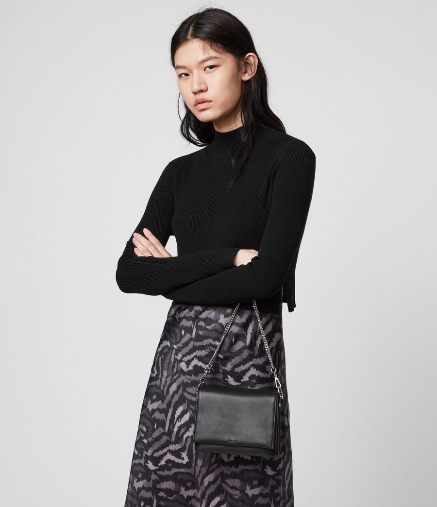 Womens Brune Leather Shoulder Bag (black) - Image 2
