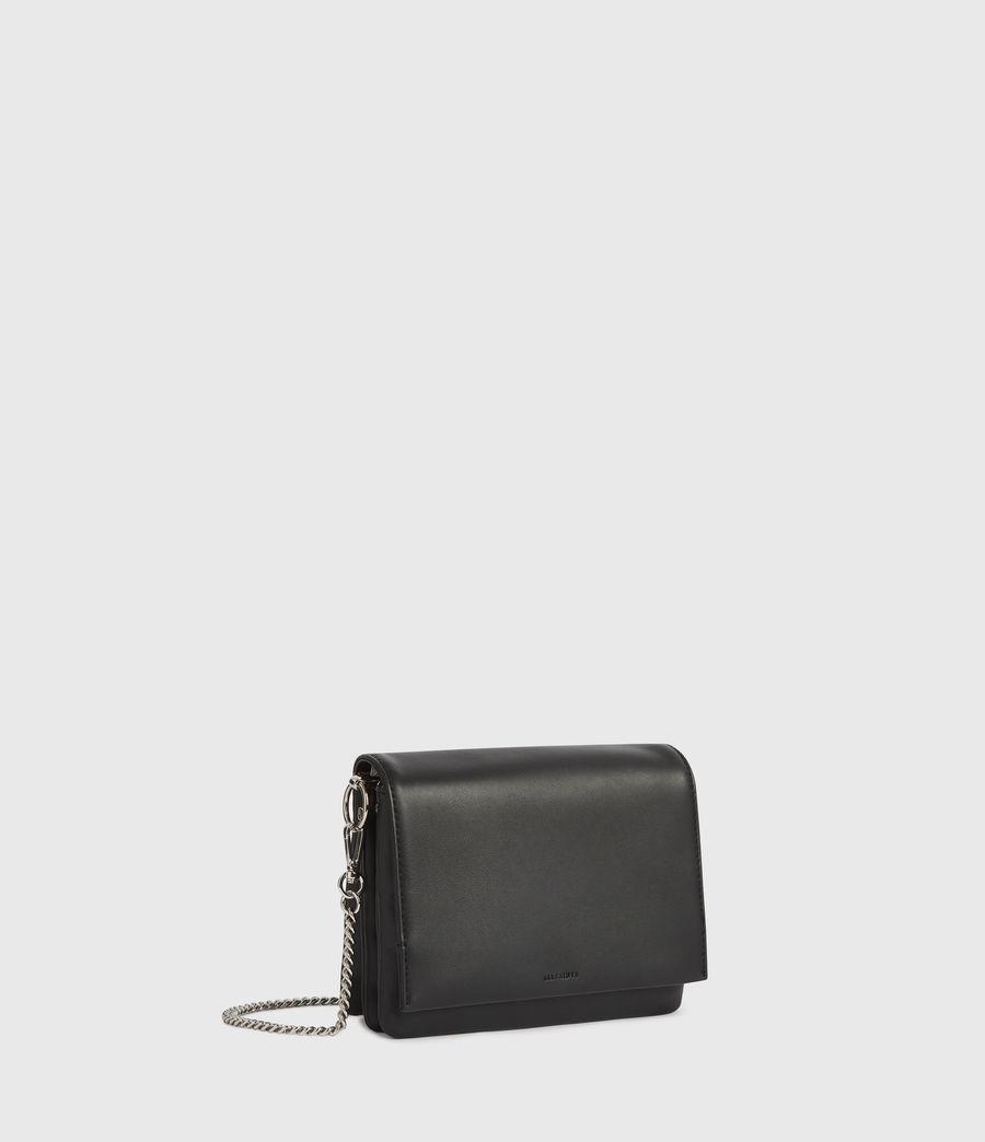 Womens Brune Leather Shoulder Bag (black) - Image 3