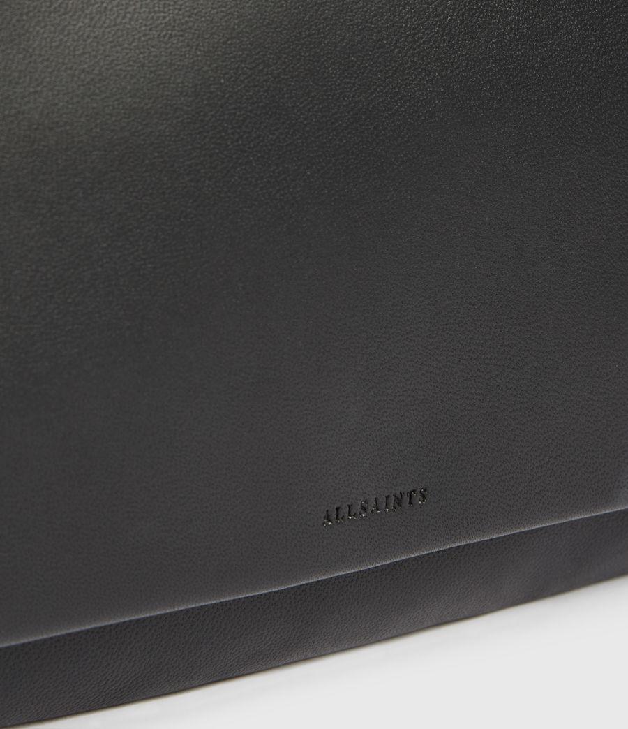 Womens Brune Leather Shoulder Bag (black) - Image 4