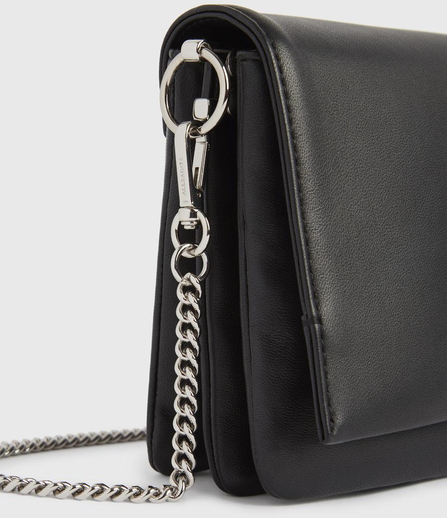 Womens Brune Leather Shoulder Bag (black) - Image 5