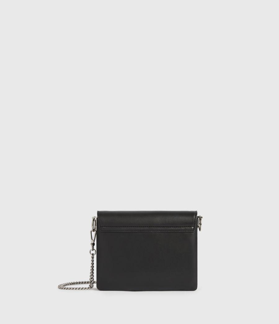 Womens Brune Leather Shoulder Bag (black) - Image 6
