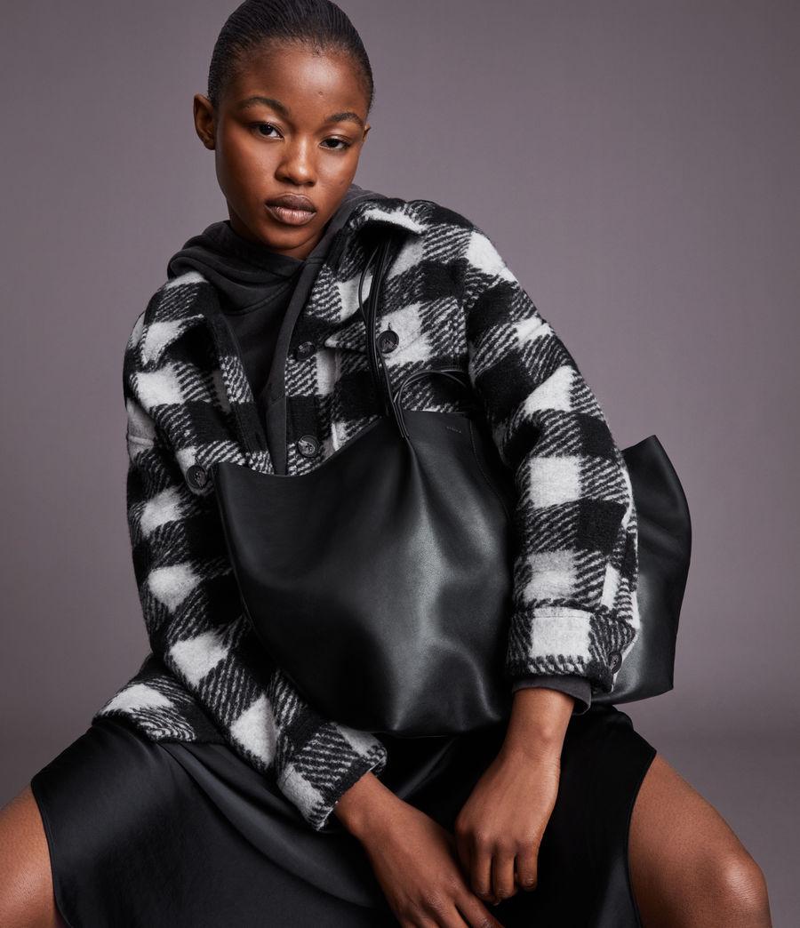 Women's Nadaline Leather East West Tote Bag (black) - Image 1