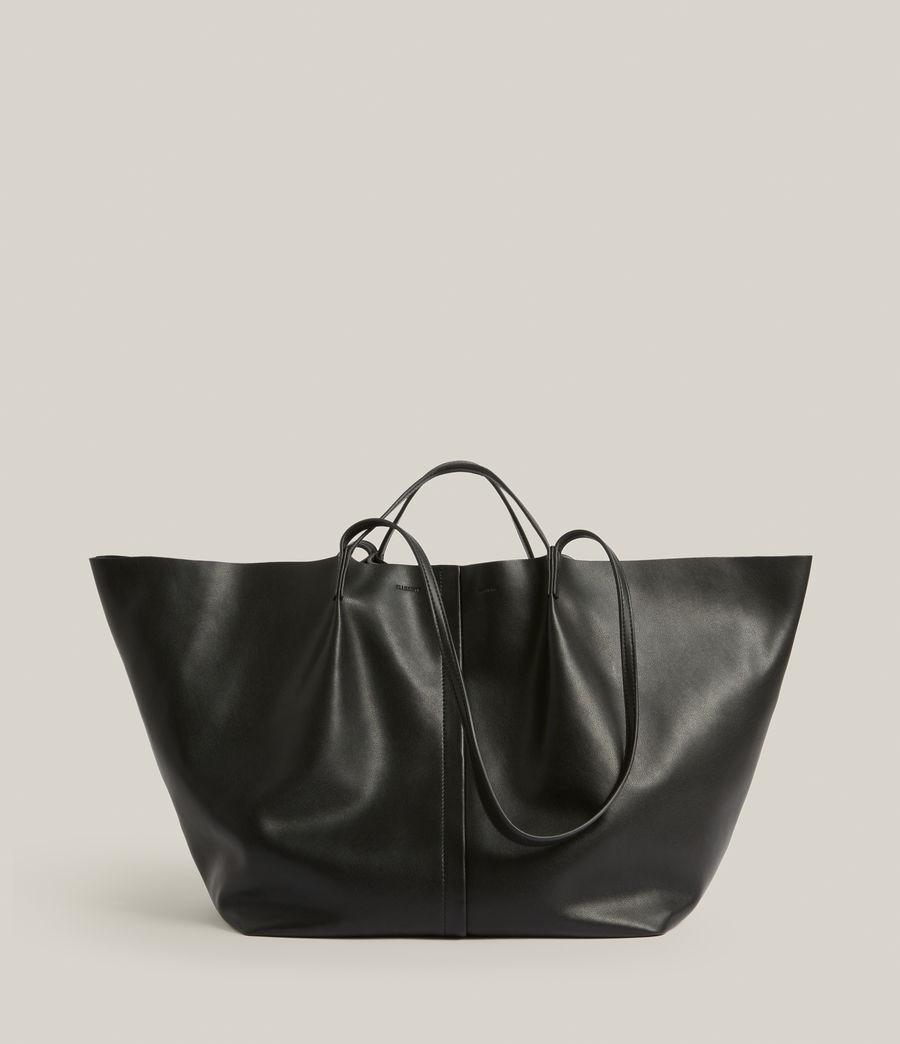 Women's Nadaline Leather East West Tote Bag (black) - Image 2