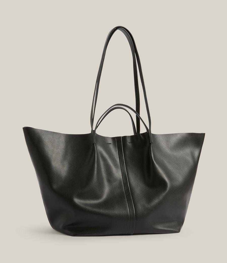 Women's Nadaline Leather East West Tote Bag (black) - Image 5