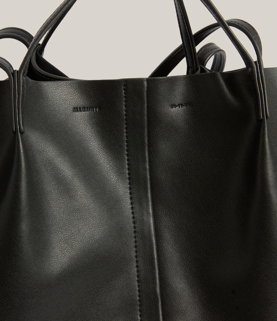 Women's Nadaline Leather East West Tote Bag (black) - Image 6
