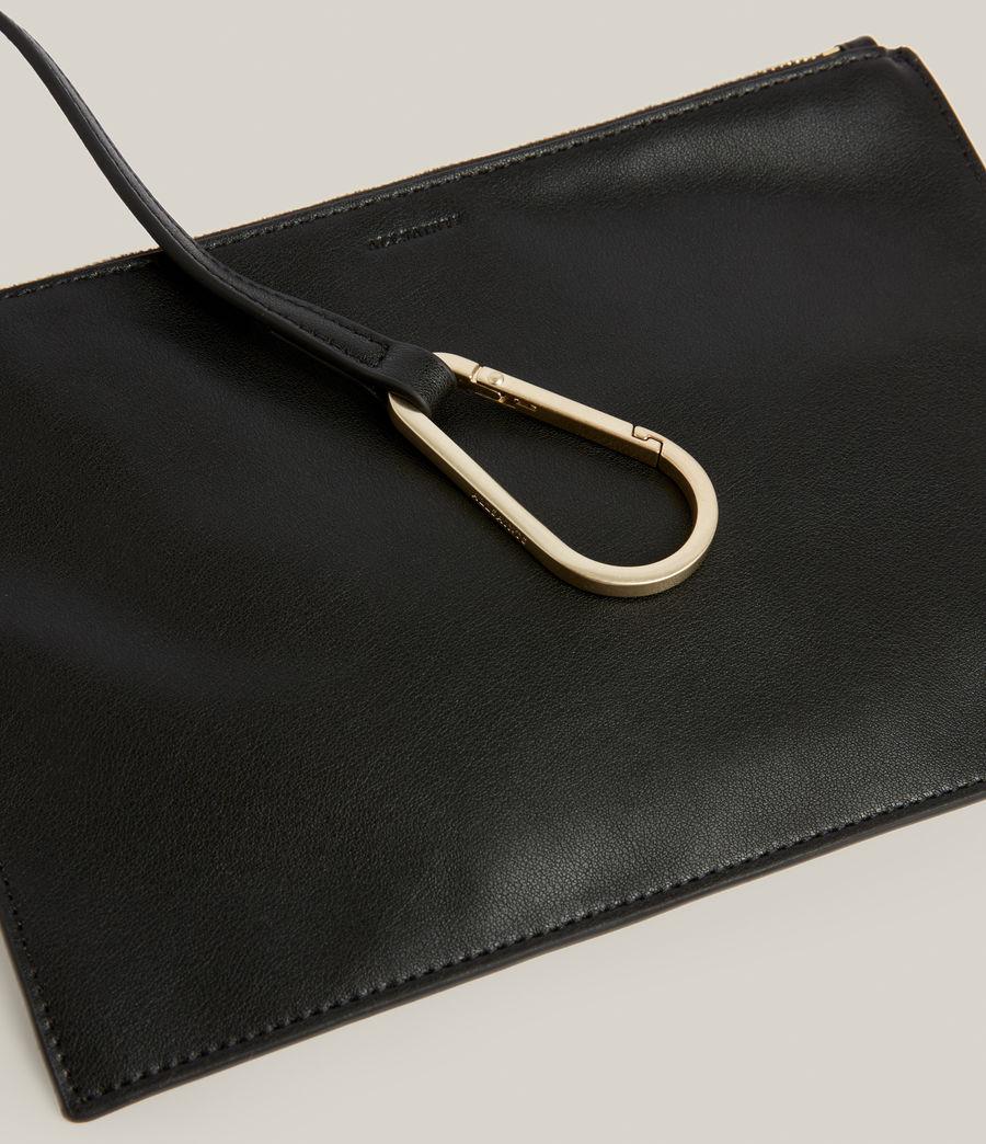 Women's Nadaline Leather East West Tote Bag (black) - Image 7