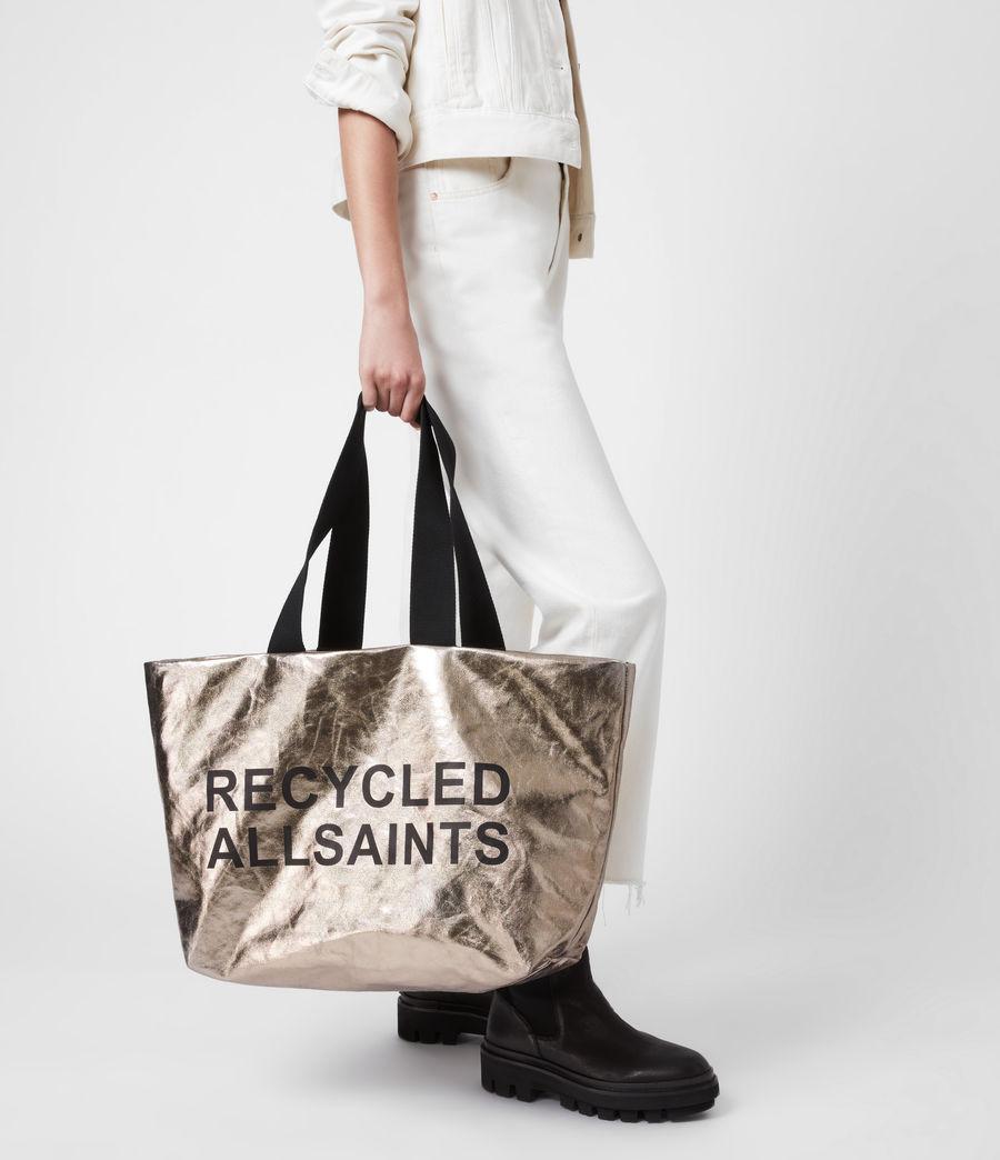 Womens Acari Print Tote Bag (silver) - Image 1