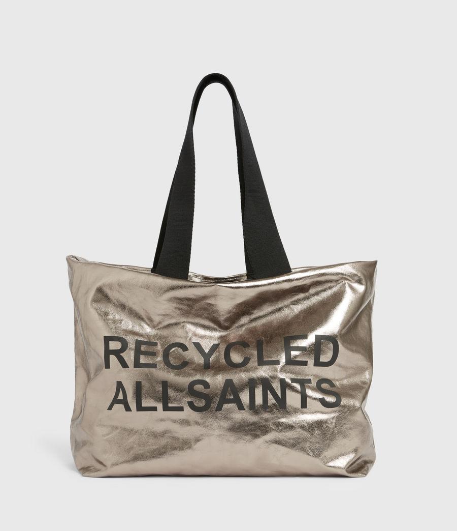 Womens Acari Print Tote Bag (silver) - Image 2
