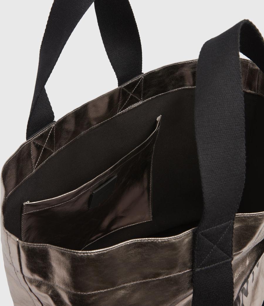 Womens Acari Print Tote Bag (silver) - Image 3