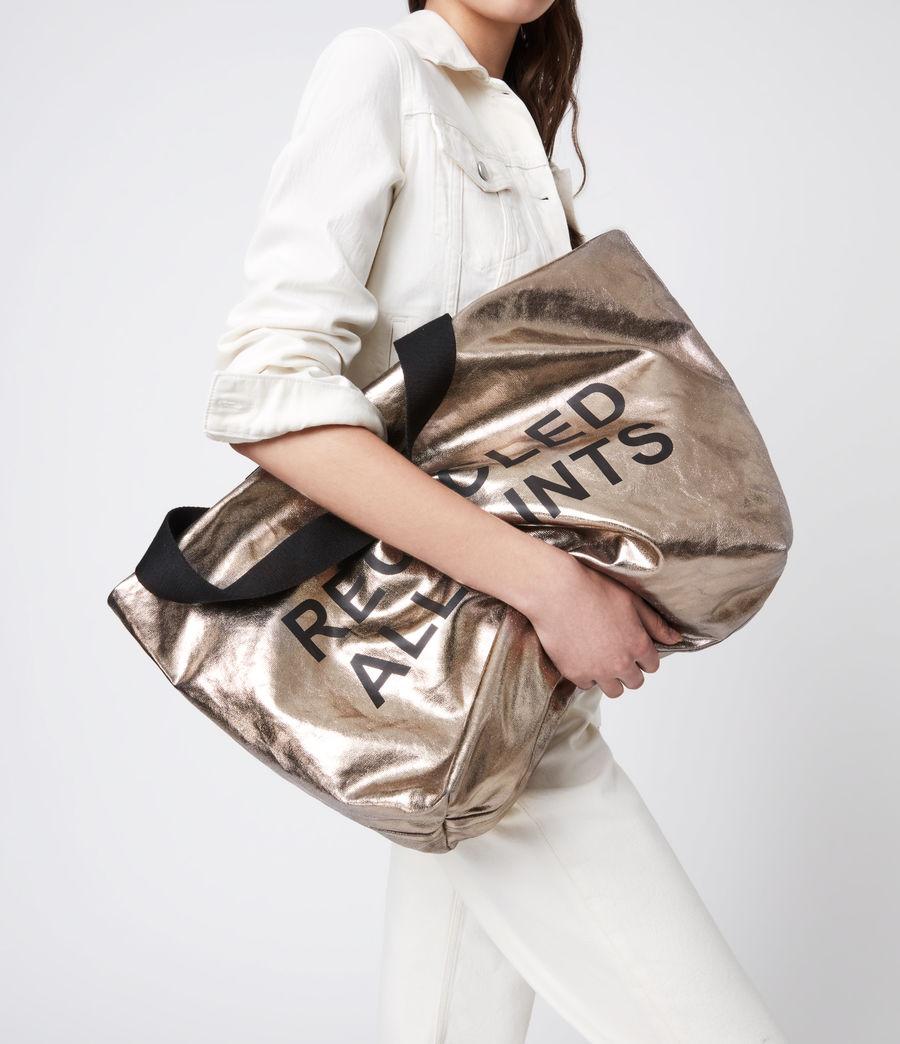 Womens Acari Print Tote Bag (silver) - Image 4