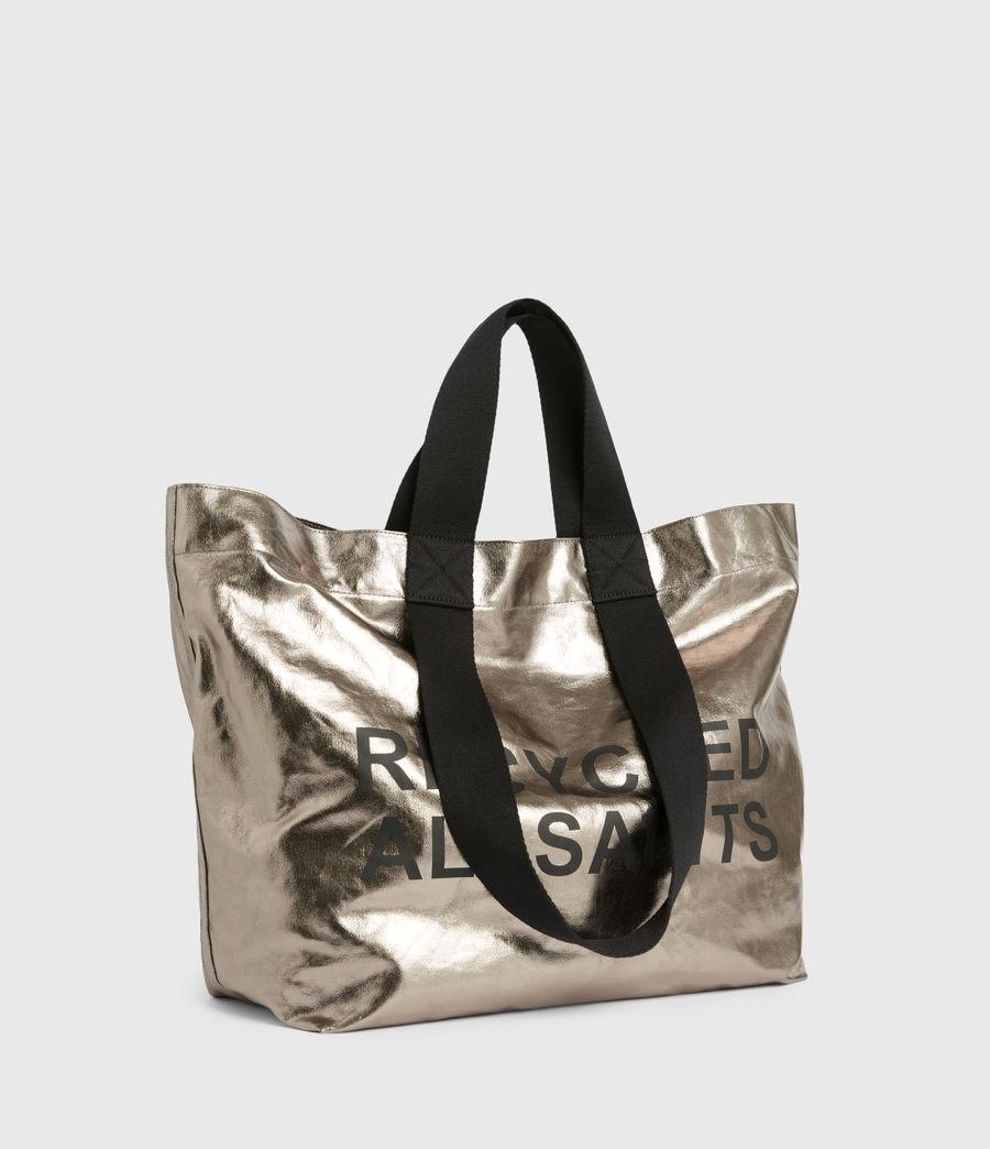 Womens Acari Print Tote Bag (silver) - Image 5
