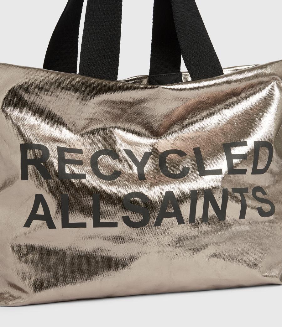 Womens Acari Print Tote Bag (silver) - Image 6