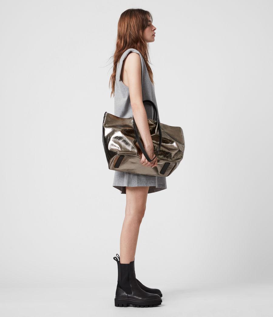 Women's Allington Large East West Leather Tote Bag (silver) - Image 1