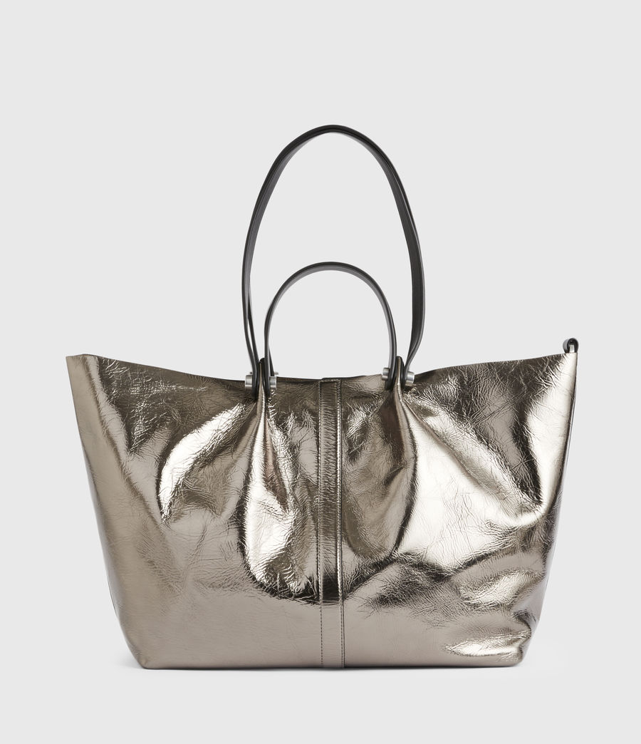 Women's Allington Large East West Leather Tote Bag (silver) - Image 2
