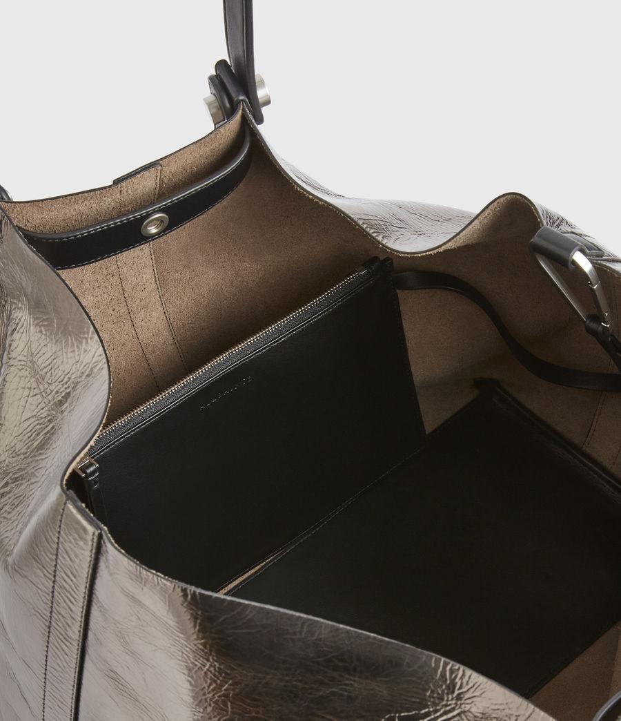 Women's Allington Large East West Leather Tote Bag (silver) - Image 3