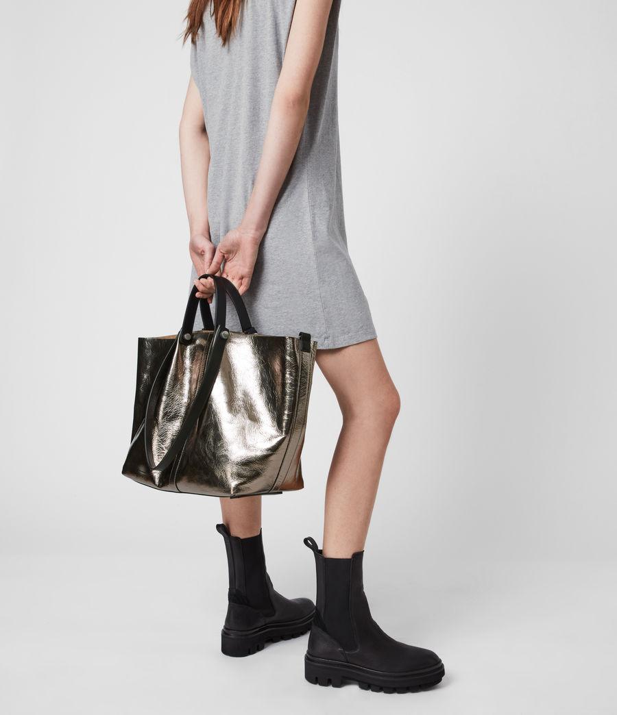 Femmes Allington Large East West Leather Tote Bag (silver) - Image 4