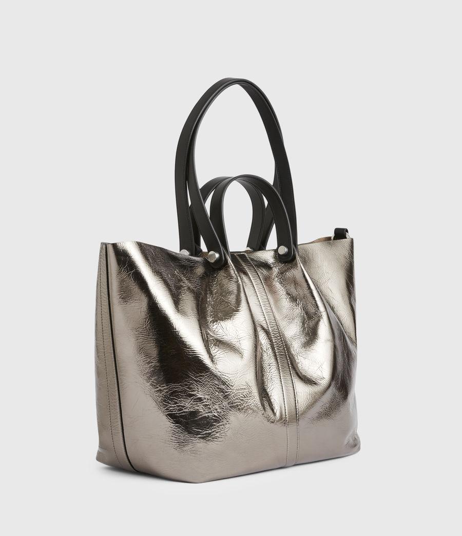 Femmes Allington Large East West Leather Tote Bag (silver) - Image 5