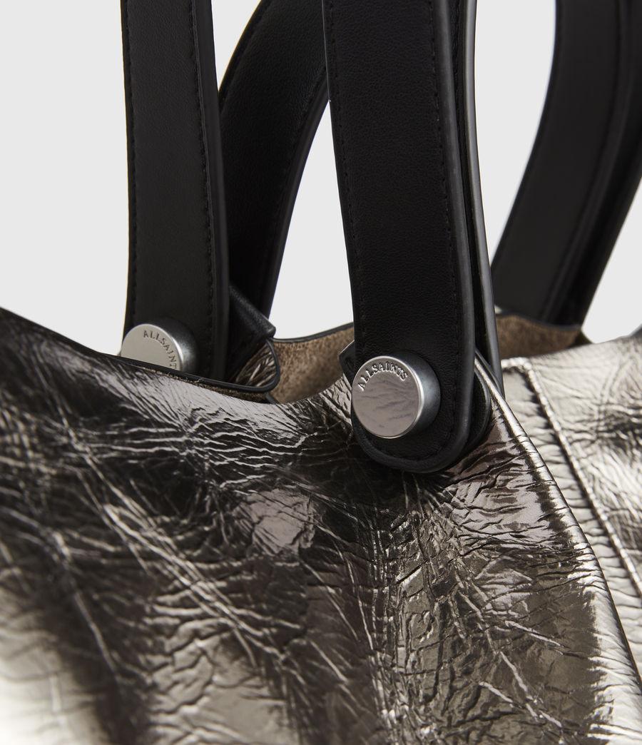 Femmes Allington Large East West Leather Tote Bag (silver) - Image 6