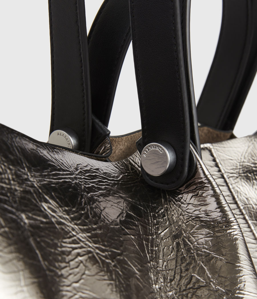 Women's Allington Large East West Leather Tote Bag (silver) - Image 6