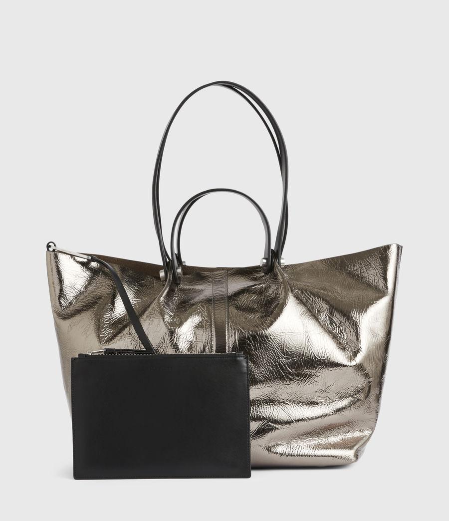 Women's Allington Large East West Leather Tote Bag (silver) - Image 8