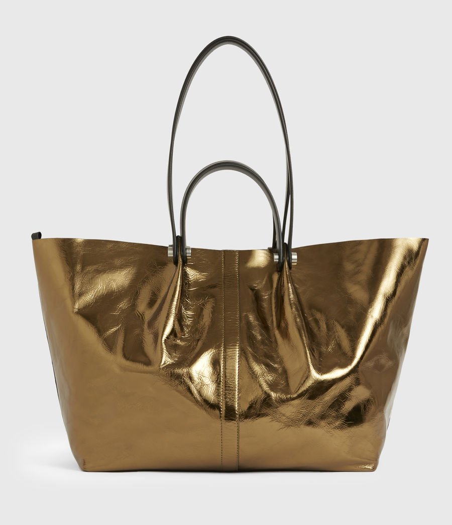Womens Allington Large East West Leather Tote Bag (gold) - Image 2