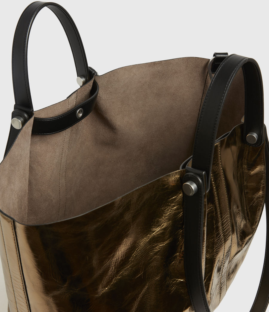 Womens Allington Large East West Leather Tote Bag (gold) - Image 3
