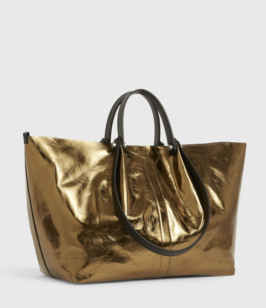 Womens Allington Large East West Leather Tote Bag (gold) - Image 4