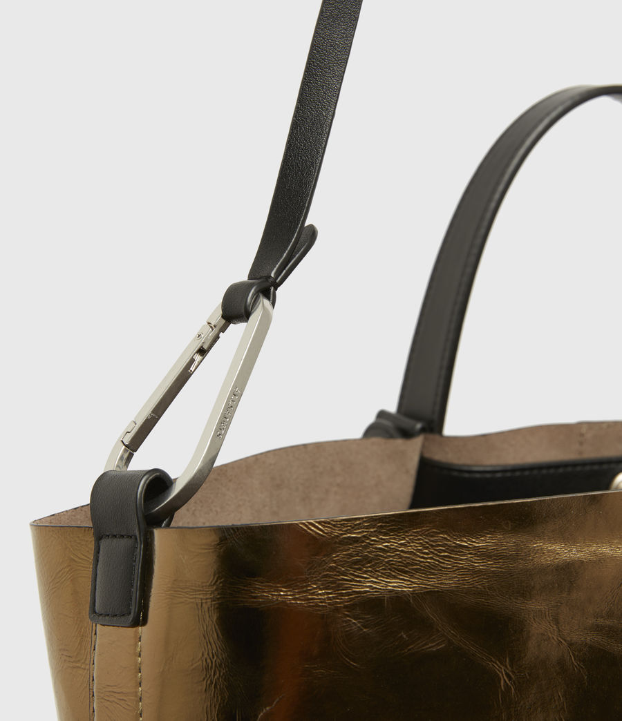 Womens Allington Large East West Leather Tote Bag (gold) - Image 5