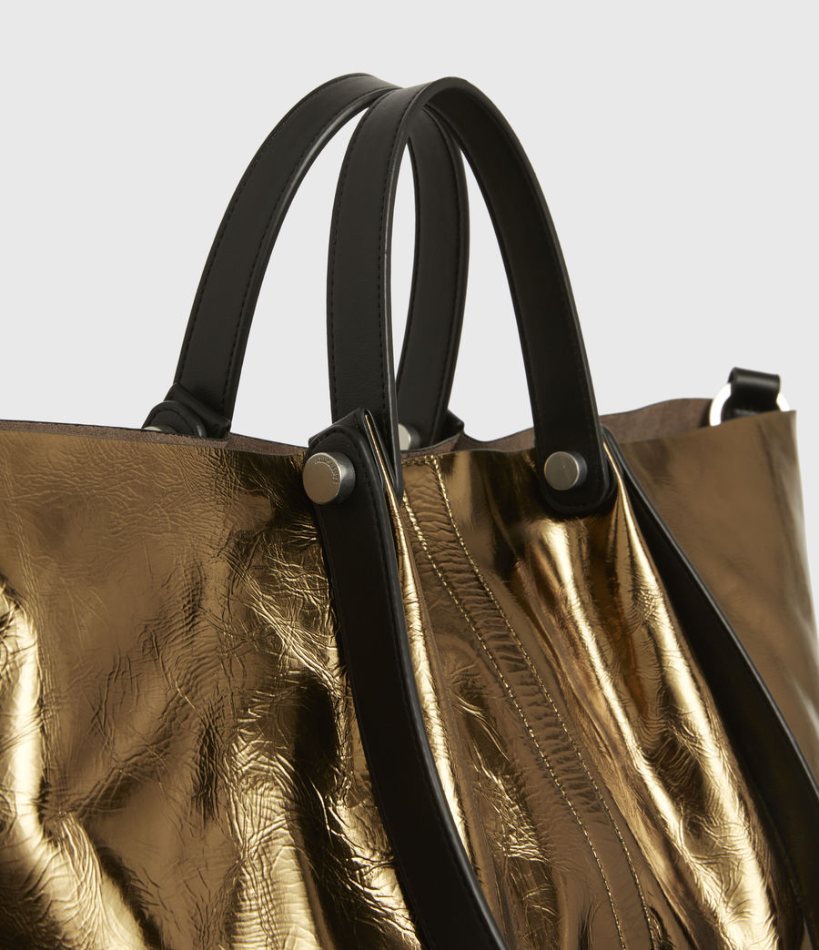Womens Allington Large East West Leather Tote Bag (gold) - Image 6