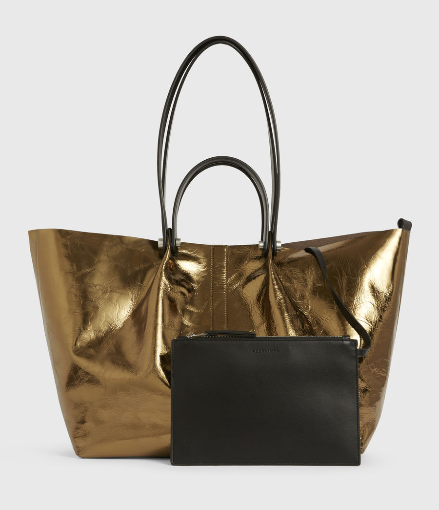 Womens Allington Large East West Leather Tote Bag (gold) - Image 7