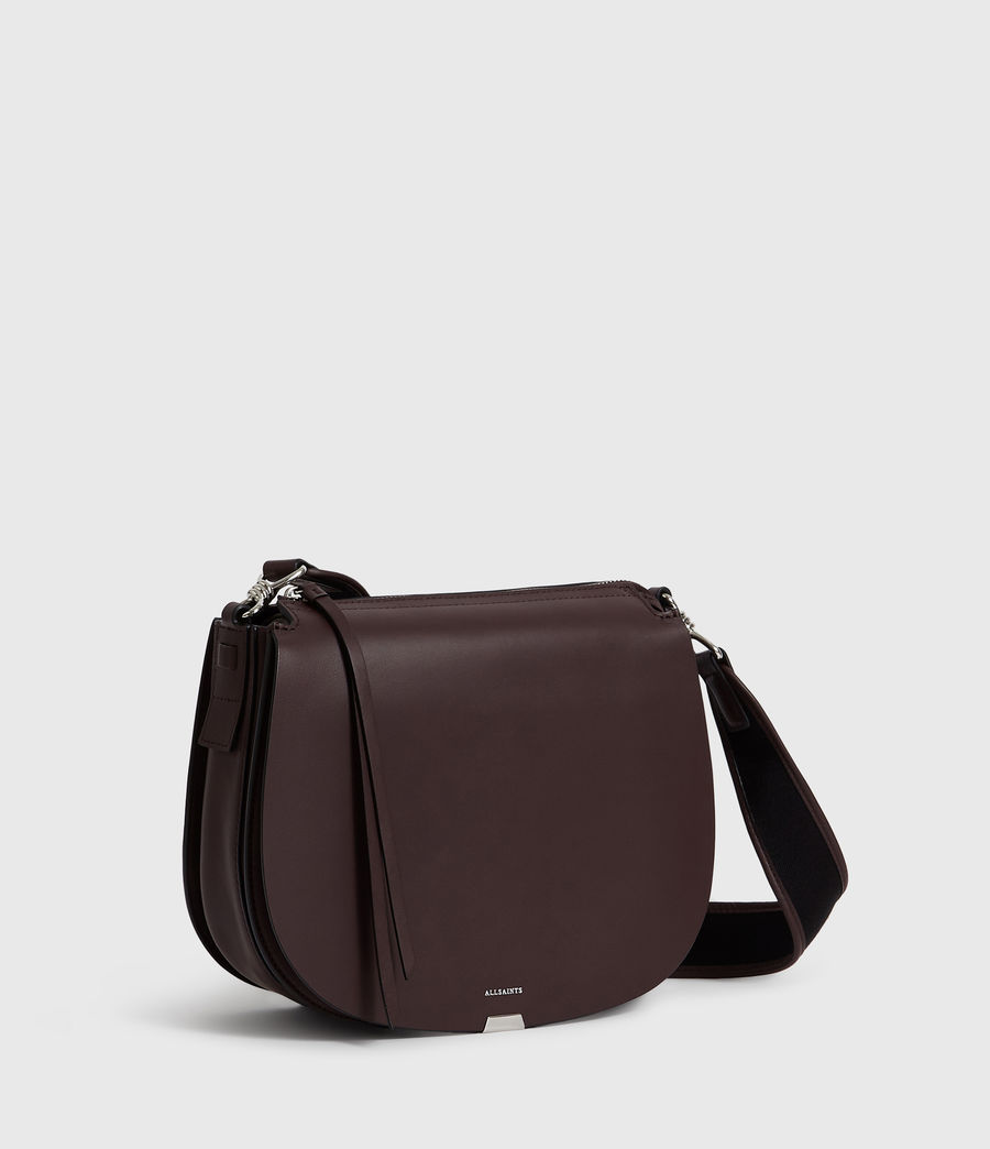 Donne Borsa A Tracolla Darcy Round, In Pelle (bordeaux_red) - Image 3