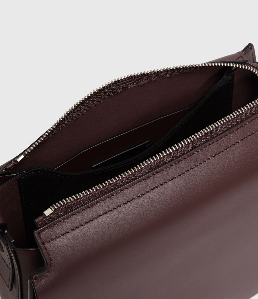 Donne Borsa A Tracolla Darcy Round, In Pelle (bordeaux_red) - Image 6