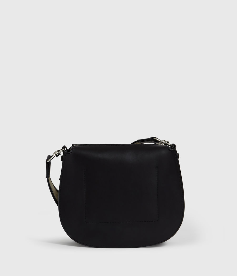 Womens Darcy Round Leather Crossbody Bag (black) - Image 8
