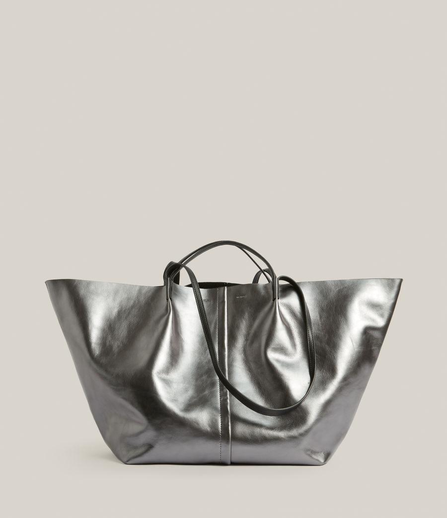 Women's Nadaline Leather East West Tote Bag (gunmetal) - Image 1