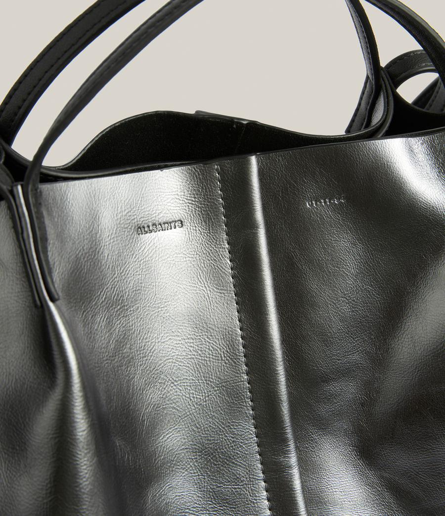 Women's Nadaline Leather East West Tote Bag (gunmetal) - Image 6