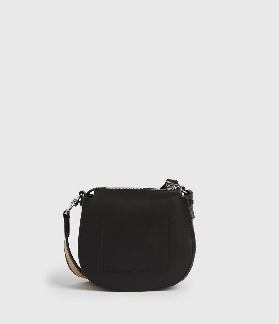 Womens Darcy Small Round Leather Crossbody Bag (black) - Image 6
