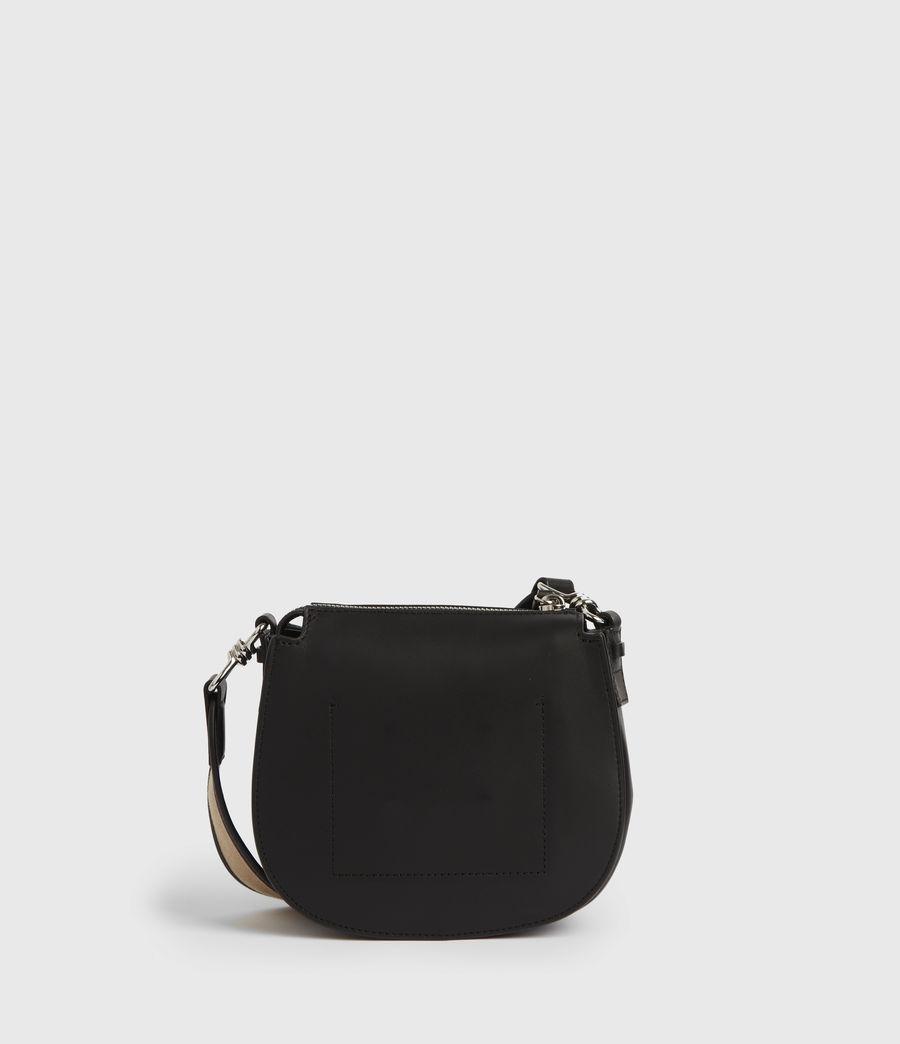 Women's Darcy Small Round Leather Crossbody Bag (black) - Image 6
