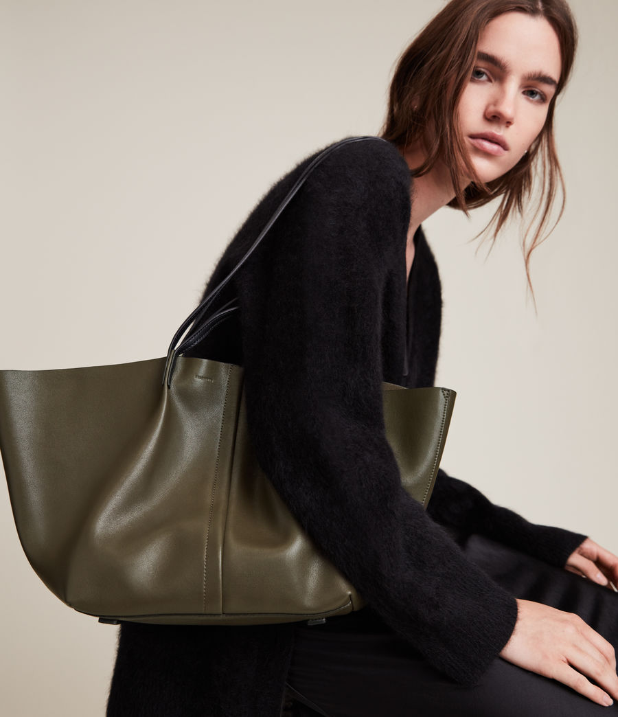 Womens Odette East West Tote Bag (dusky_khaki) - Image 2