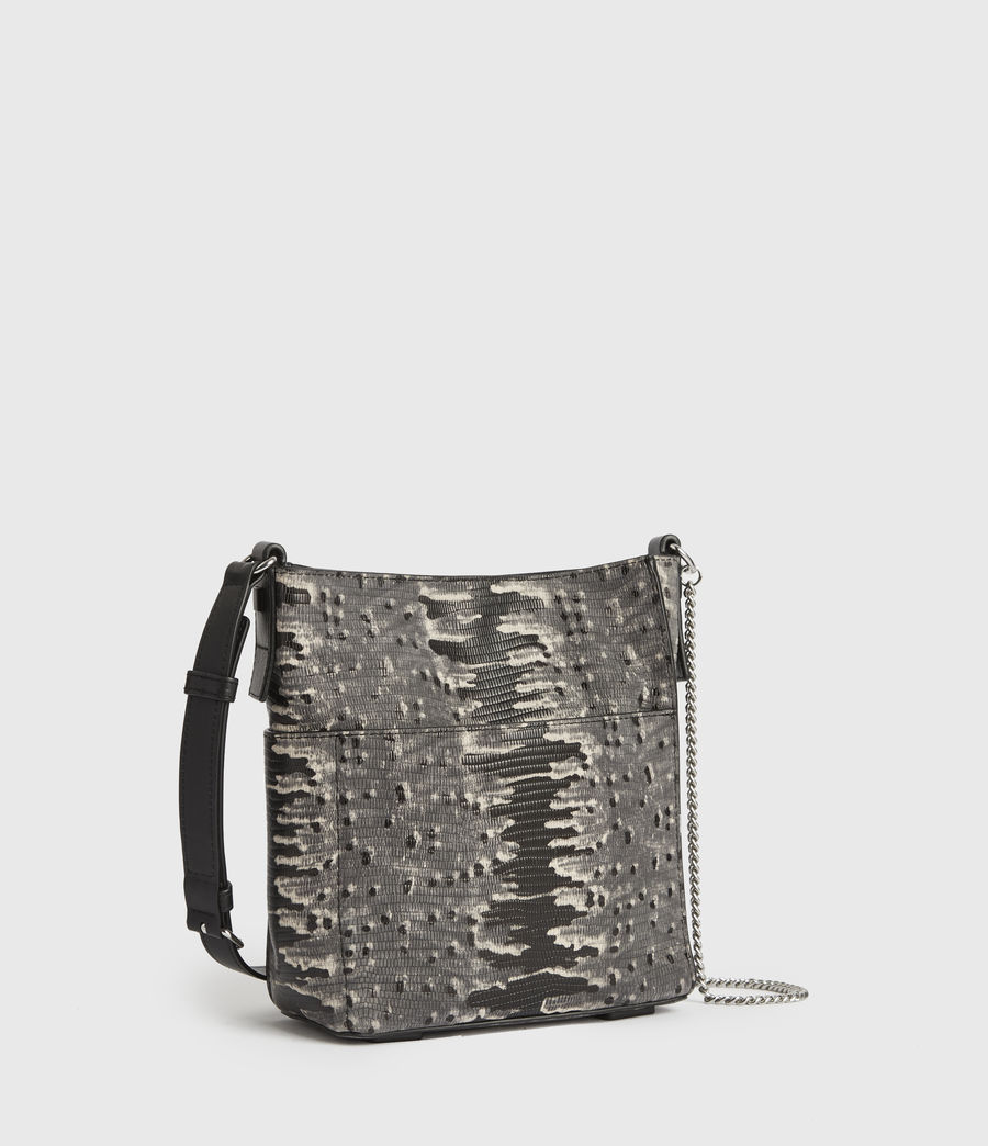Mujer Adelina Small North South Leather Tote Bag (grey_multi) - Image 2