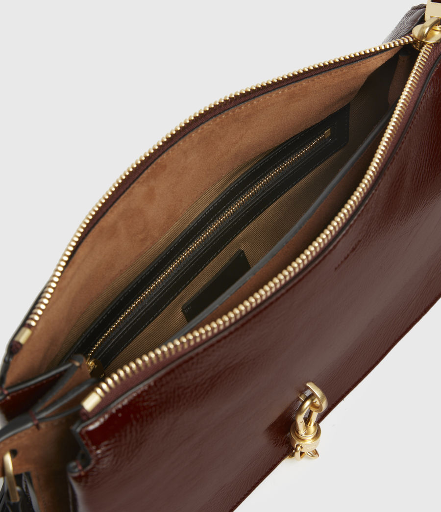 Womens Sheringham Leather Shoulder Bag (biscuit_brown) - Image 3