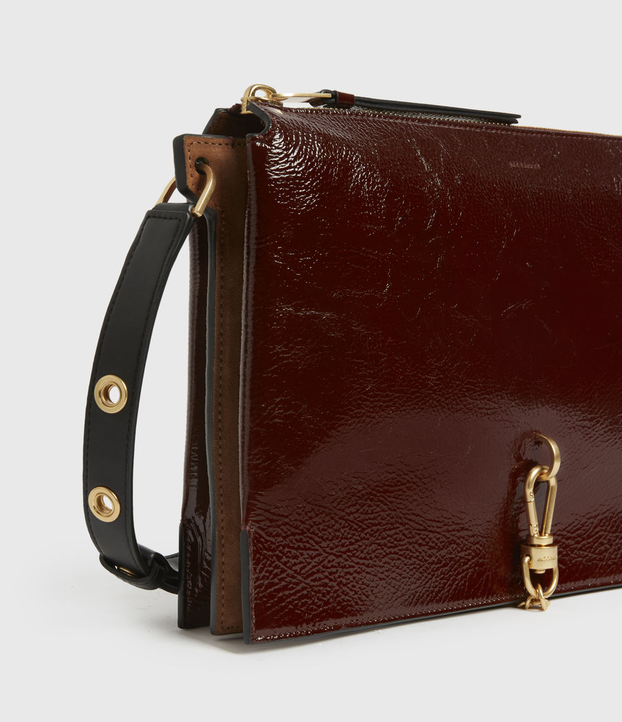 Womens Sheringham Leather Shoulder Bag (biscuit_brown) - Image 5