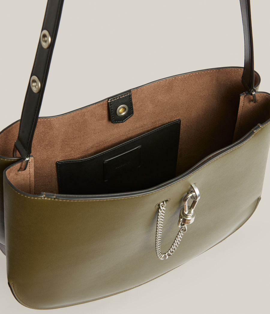 Women's Beaumont Leather Hobo Bag (dusky_khaki) - Image 3