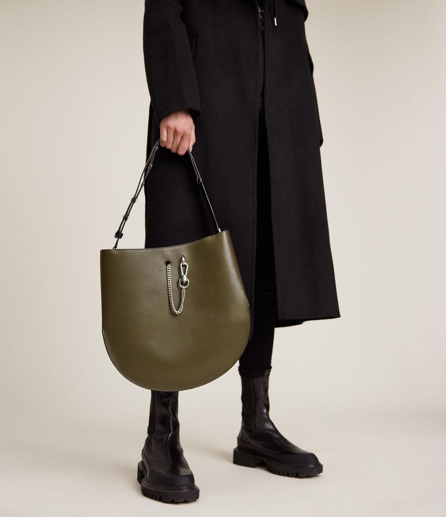 Women's Beaumont Leather Hobo Bag (dusky_khaki) - Image 4
