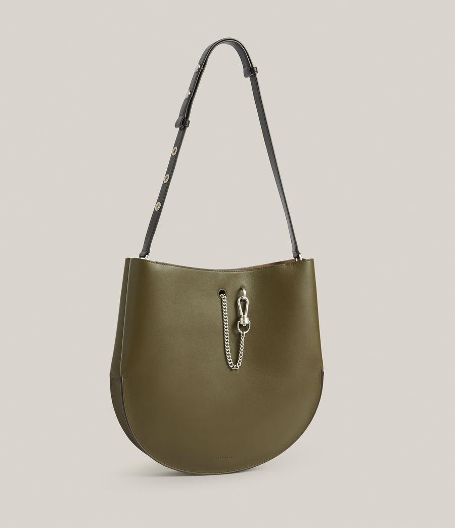 Women's Beaumont Leather Hobo Bag (dusky_khaki) - Image 5